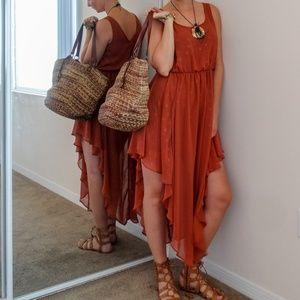Lush Asymmetrical Lightweight Maxi Dress